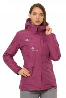 Купить оптом куртку демисезонную женскую фиолетового цвета 1703F в интернет магазине MTFORCE.RU