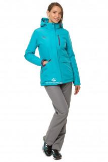 Купить оптом костюм демисезонный женский бирюзового цвета 01703Br в интернет магазине MTFORCE.RU