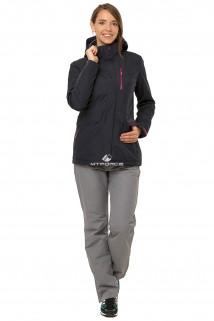 Купить оптом костюм демисезонный женский темно-синего цвета 01703TS в интернет магазине MTFORCE.RU