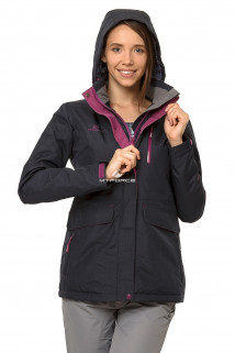Купить оптом куртку демисезонную женскую темно-синего цвета 1703TS в интернет магазине MTFORCE.RU