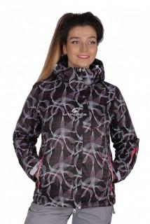 Куртка спортивная женская демисезонная черного цвета 1710Ch в интернет магазине MTFORCE.RU