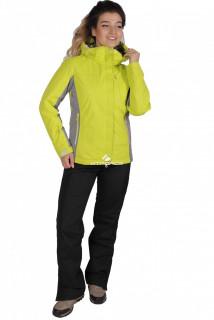 Купить оптом костюм женский осень весна желтого цвета 01711J в интернет магазине MTFORCE.RU