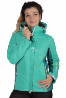 Куртка спортивная женская осень весна зеленого цвета 1712Z в интернет магазине MTFORCE.RU