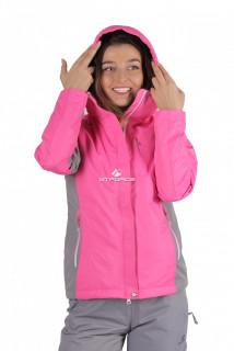 Купить оптом куртку женскую осень весна розового цвета 1713-1R в интернет магазине MTFORCE.RU