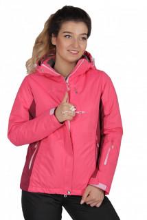 Куртка спортивная женская осень весна розового цвета 1711R в интернет магазине MTFORCE.RU