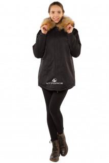 Купить оптом куртку парку тренд большого размера черного цвета 11711Ch в интернет магазине MTFORCE.RU