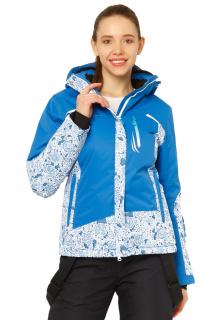 Купить оптом курткe горнолыжную женскую синего цвета 17122S в интернет магазине MTFORCE.RU
