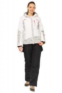 Купить оптом костюм горнолыжный женский белого цвета 017122Bl в интернет магазине MTFORCE.RU