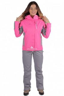Купить оптом костюм женский осень весна розового цвета 01713-1R в интернет магазине MTFORCE.RU