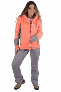 Купить оптом костюм женский осень весна персикового цвета 01713P в интернет магазине MTFORCE.RU