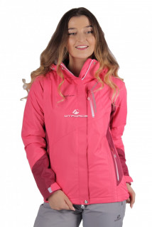 Купить оптом куртку женскую осень весна розового цвета 1713R в интернет магазине MTFORCE.RU