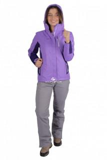 Купить оптом костюм женский осень весна фиолетового цвета 01713F в интернет магазине MTFORCE.RU