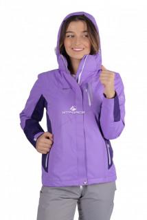 Купить оптом куртку женскую осень весна фиолетового цвета 1713F в интернет магазине MTFORCE.RU