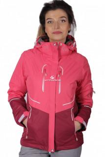 Куртка спортивная женская осень весна розового цвета 1715R в интернет магазине MTFORCE.RU