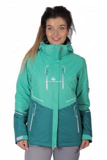 Куртка спортивная женская осень весна зеленого цвета 1715Z в интернет магазине MTFORCE.RU