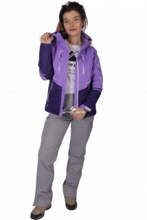 Купить оптом костюм женский осень весна фиолетового цвета 01715F в интернет магазине MTFORCE.RU