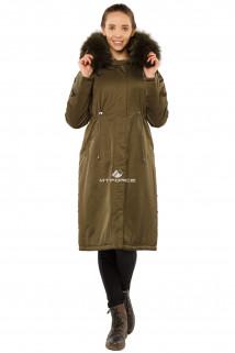 Купить оптом куртку парку тренд большого размера цвета хаки 11715Kh в интернет магазине MTFORCE.RU