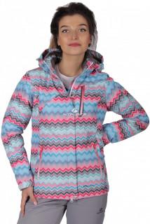 Куртка спортивная женская осень весна розового цвета 1716R в интернет магазине MTFORCE.RU