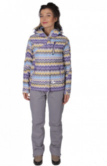 Купить оптом костюм женский осень весна фиолетового цвета 01716F в интернет магазине MTFORCE.RU