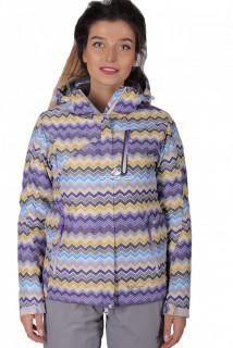 Куртка спортивная женская осень весна фиолетового цвета 1716F в интернет магазине MTFORCE.RU