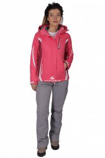 Купить оптом костюм женский осень весна розового цвета 01717R в интернет магазине MTFORCE.RU