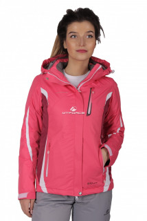 Куртка спортивная женская осень весна розового цвета 1717R в интернет магазине MTFORCE.RU