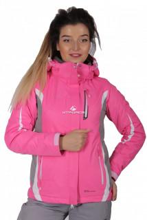 Купить оптом куртку женскую осень весна розового цвета 1717-1R в интернет магазине MTFORCE.RU