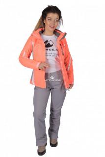 Купить оптом костюм женский осень весна персикового цвета 01717P в интернет магазине MTFORCE.RU