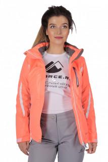 Куртка спортивная женская осень весна персикового цвета 1717P в интернет магазине MTFORCE.RU