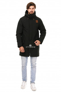 Купить оптом куртку парку мужскую осень весна черного цвета 1720Ch в интернет магазине MTFORCE.RU