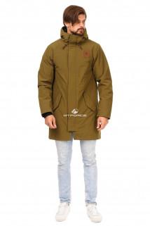 Купить оптом куртку парку мужскую осень весна хаки цвета 1720Kh в интернет магазине MTFORCE.RU