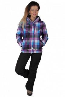 Купить оптом костюм женский осень весна фиолетового цвета 017211F в интернет магазине MTFORCE.RU