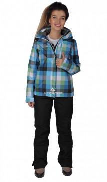 Купить оптом костюм женский осень весна голубого цвета 017211Gl в интернет магазине MTFORCE.RU