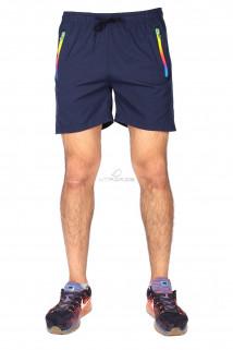 Купить оптом спортивные шорты темно-синего цвета 17312TS в интернет магазине MTFORCE.RU