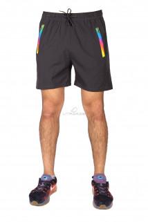 Купить оптом спортивные шорты темно-серого цвета 17312TC в интернет магазине MTFORCE.RU