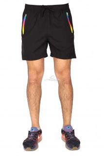 Купить оптом спортивные шорты черного цвета 17312Ch в интернет магазине MTFORCE.RU