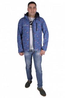 Купить оптом ветровка - виндстоппер мужская синего цвета 1732S в интернет магазине MTFORCE.RU