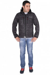 Купить оптом ветровка - виндстоппер мужская черного цвета 1733Ch в интернет магазине MTFORCE.RU