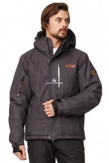 Купить оптом куртка горнолыжная мужская темно-серого цвета 1737TC в интернет магазине MTFORCE.RU