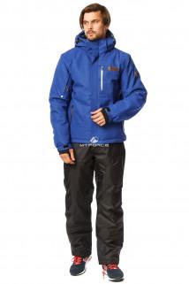 Купить оптом костюм горнолыжный мужской синего цвета 01737S в интернет магазине MTFORCE.RU