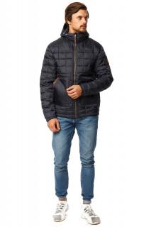Купить оптом куртку мужскую стеганную темно-синего цвета 1741TS в интернет магазине MTFORCE.RU