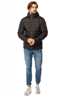 Интернет магазин MTFORCE.ru предлагает купить оптом куртку мужскую стеганную черного цвета 1741Ch по выгодной и доступной цене с доставкой по всей России и СНГ