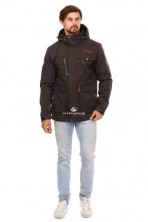 Купить оптом куртку мужскую осень весна темно-серого цвета 1742TC в интернет магазине MTFORCE.RU