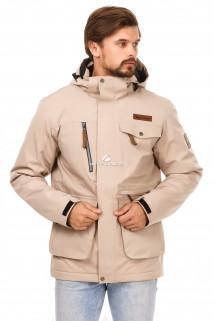 Купить оптом куртка горнолыжная мужская бежевого цвета 1763B в интернет магазине MTFORCE.RU