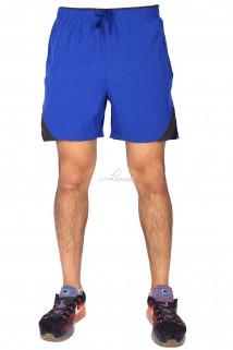 Купить оптом спортивные шорты синего цвета 17432S в интернет магазине MTFORCE.RU