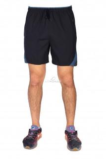Купить оптом спортивные шорты черного цвета 17432Ch в интернет магазине MTFORCE.RU