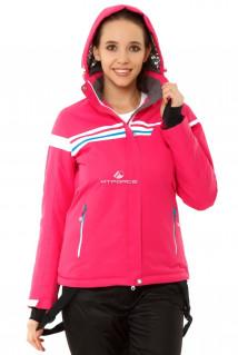 Купить оптом куртку горнолыжную женскую розового цвета 1745R в интернет магазине MTFORCE.RU