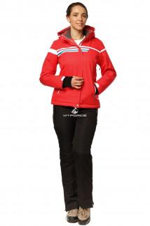 Купить оптом костюм горнолыжный женский красного цвета 01745Kr в интернет магазине MTFORCE.RU