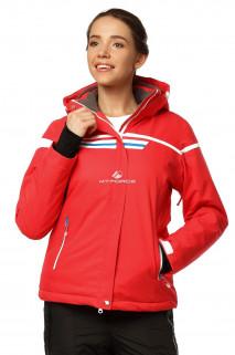 Купить оптом куртку горнолыжную женскую красного цвета 1745Kr в интернет магазине MTFORCE.RU