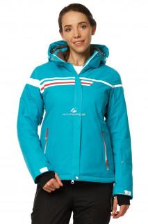 Купить оптом куртку горнолыжную женскую бирюзового цвета 1745Br в интернет магазине MTFORCE.RU